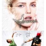 اکشن فتوشاپ افکت عکس میخی هنرمندانه SpikeArt Action
