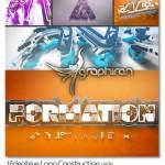 پروژه افترافکت ساخته شدن لوگو از قطعات مجزا Logo Construction