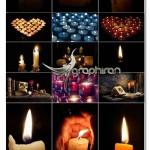 دانلود مجموعه ۵۰ عکس استوک شمع های زیبا با کیفیت بالا