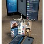 دانلود بروشور گوشی موبایل طرح iPhone فرمت PSD لایه باز