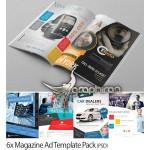 پک ۶ طرح آگهی تبلیغاتی مجله Magazine Ads Template Pack
