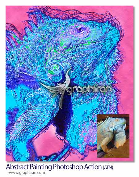 اکشن فتوشاپ افکت نقاشی انتزاعی