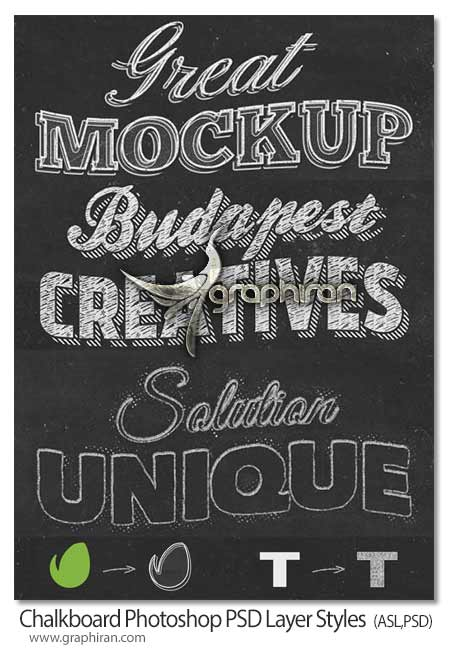 Chalkboard Photoshop PSD Layer Styles