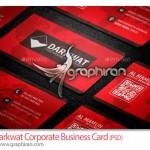 دانلود کارت ویزیت تجاری قرمز رنگ PSD لایه باز- شماره ۳۰۲