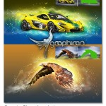 اکشن فتوشاپ افکت رگه های انرژی Energize Photoshop Action