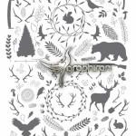 طرح وکتور المان های جنگل با فرمت های متنوع Forest Elements
