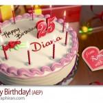 دانلود پروژه حرفه ای افتر افکت تولدت مبارک Happy Birthday