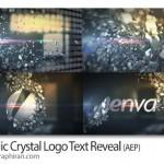 پروژه آماده افتر افکت تیزر متن و لوگو شکل کریستال متالیک