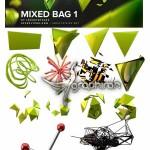 پک شکل های ۳ بعدی بدون بک گراند Mixed 3D Elements Bundle PNG