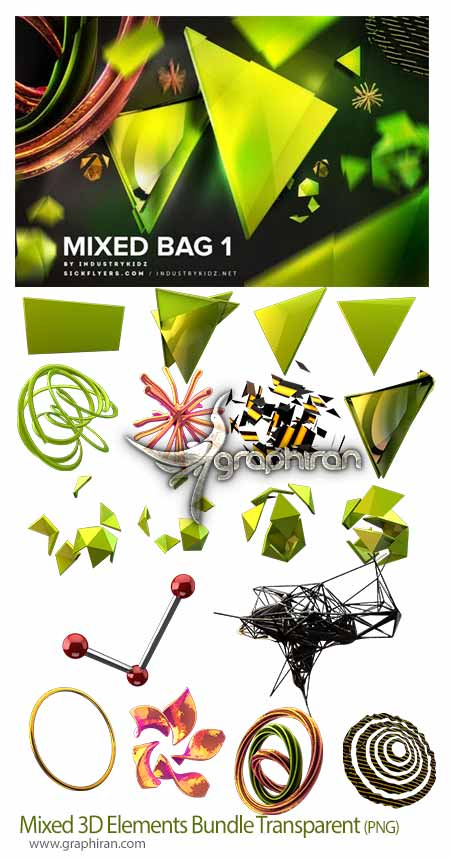 Mixed 3D Elements Bundle