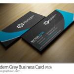 دانلود فایل خام کارت ویزیت خاکستری و آبی لایه باز – شماره ۳۰۴
