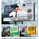 دانلود ۳ طرح وکتور لایه باز بیلبورد شهری فرمت EPS و AI