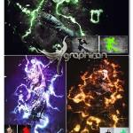 اکشن فتوشاپ افکت قدرت Power Photoshop Action