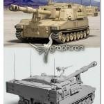 دانلود مدل سه بعدی تانک تری دی مکس Turbosquid M109A6 Paladin