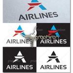 طرح وکتور لوگوی خطوط هواپیمایی Airline Logo Template