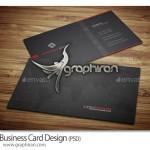 دانلود طرح PSD کارت ویزیت تجاری شیک با تم تیره – شماره ۳۱۲