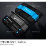 فایل PSD لایه باز کارت ویزیت زیبا با طرح برجسته – شماره ۳۱۱