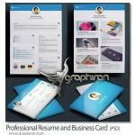 دانلود نمونه آماده رزومه کاری و کارت ویزیت شرکت PSD لایه باز