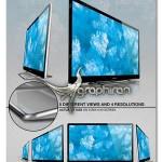 دانلود طرح لایه باز ماک آپ تلویزیون تخت Sleek TV Mockup