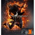 اکشن ساخت افکت آتش واقعی روی عکس AfterBurn 2 Photoshop Action