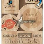 اکشن ساخت چوب حکاکی شده Carved Wood Sign Photoshop Creator