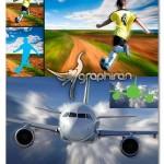 اکشن فتوشاپ ساخت افکت سرعت روی عکس Fast Photoshop Action
