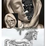 اکشن فتوشاپ ساخت افکت آهن و نقره Metal Silver Action