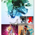اکشن فتوشاپ افکت نقاشی ترکیبی MultiArt 3 Photoshop Action