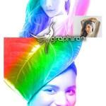اکشن فتوشاپ نقاشی رنگین کمان Rainbow Painting Photoshop Action
