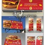 دانلود پکیج کامل طرح های تبلیغاتی رستوران PSD لایه باز