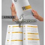 دانلود نمونه آماده رزومه کاری و تحصیلی فایل ورد و فتوشاپ