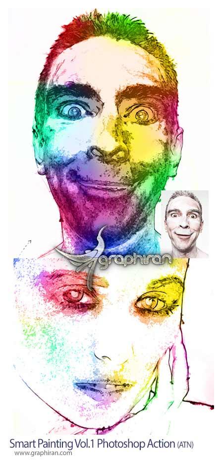 اکشن فتوشاپ نقاشی هوشمند