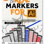 ۲۵۰ براش ماژیک برای ایلوستریتور Real Markers For Illustrator