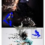 اکشن افکت ریختن رنگ از تصویر Advanced Dissolve Photoshop Action