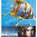 اکشن فتوشاپ خرد کردن اجزای عکس Elementum Photoshop Action