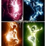 اکشن رعد و برق های رنگی Fearless Lightning Photoshop Actions
