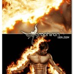 اکشن فتوشاپ افکت آتش و سوختن Fire Burn Photoshop Action