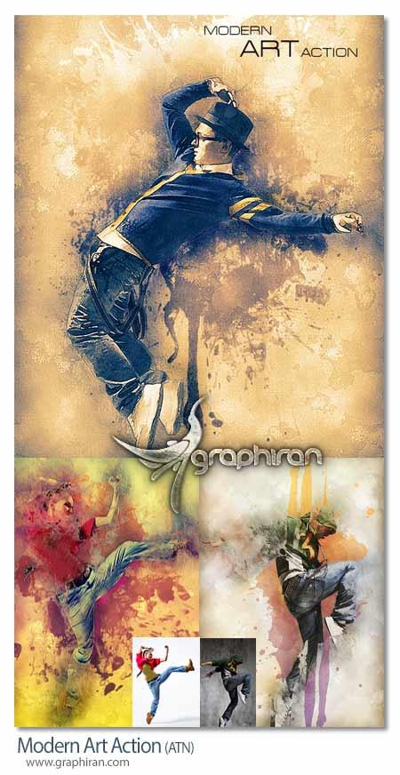 اکشن فتوشاپ افکت ترکیب هنری عکس