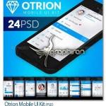 دانلود طرح لایه باز رابط کاربری موبایل Otrion Mobile UI Kit