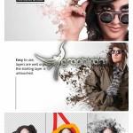 اکشن فتوشاپ حل شدن عکس Pro Dissolve Effects Photoshop Actions