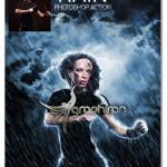 اکشن فتوشاپ ایجاد باران در عکس Rain Photoshop Action