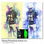 اکشن فتوشاپ افکت تکنیک های انتزاعی Tekniq Photoshop Action
