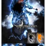 اکشن فتوشاپ طوفان و رعد و برق Thunderstorm Photoshop Action