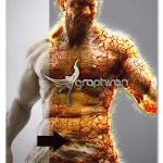 اکشن فتوشاپ افکت تیتان و مواد مذاب Titan Magma Photoshop Action