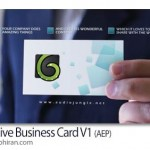 پروژه افتر افکت تیزر نمایش کارت ویزیت در دست + فیلم آموزشی