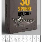 ۳۰ براش فتوشاپ گوی های انتزاعی Abstract Sphere Brushes