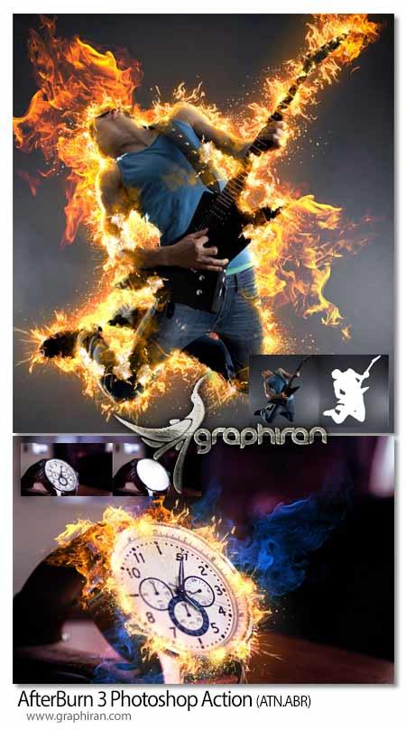 اکشن فتوشاپ ساخت افکت شعله آتش
