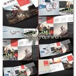 طرح آماده بروشور ورزشی سه لت Be Active Sport Trifold Brochure