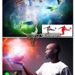 اکشن فتوشاپ ساخت افکت انرژی جذاب Energy Photoshop Action