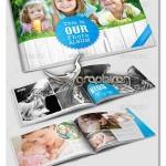 دانلود قالب لایه باز آلبوم عکس خانوادگی برای InDesign